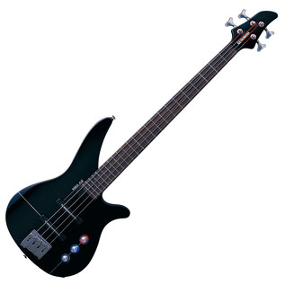 Yamaha RBX4A2 Bass Guitar, Jet Black - Front Angled
