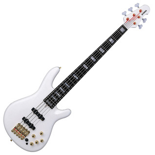 Yamaha BBNE2 Nathan East 5-String Bass Guitar, White - Front Angled
