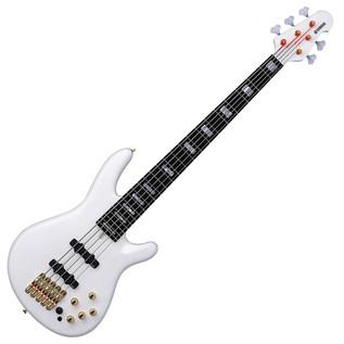 Yamaha BBNE2 Nathan East 5-String Bass Guitar, White - Front Angled
