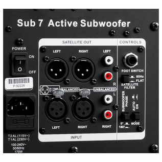 Adam Sub 7 Professional Subwoofer, Matt Black
