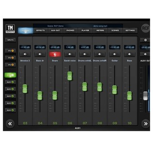 RCF M18 Digital Mixer - App Screenshot 3