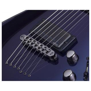 Schecter Hellraiser Hybrid C-7 Guitar, Violet