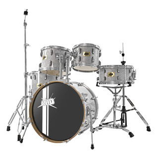 WHD Birch 5-Piece Swing Drum Kit + WHD Cymbal Pack, Silver Sparkle