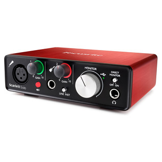 Focusrite Scarlett Solo MKII - Angled Right