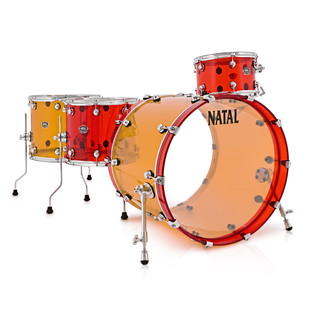 Natal Arcadia 4 Piece Acrylic Shell Pack, Jelly Bean 1