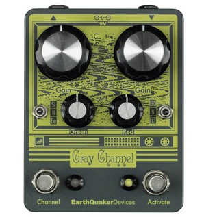 EarthQuaker Devices Gray Channel Dynamic Dirt Doubler Top Panel
