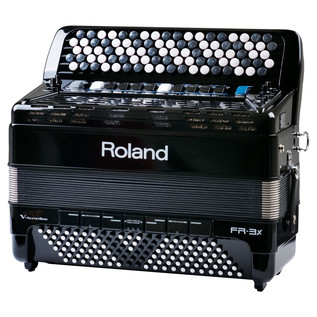 Roland FR-3XB V-Accordion, Black, with Bag
