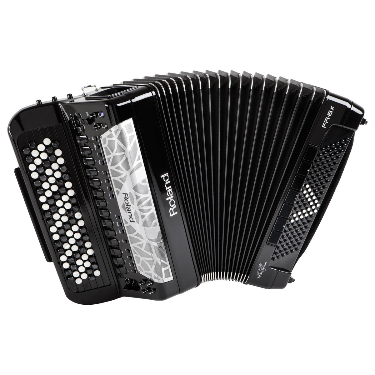 roland fr 8x v accordion button type black at. Black Bedroom Furniture Sets. Home Design Ideas