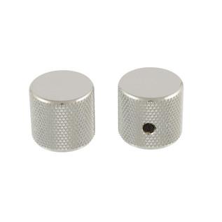 Allparts Barrel Knobs Fit USA Solid Shaft Pots, Chrome