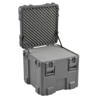 SKB R Series 2424-24 Waterproof Case (With Layered Foam) - Angled Open