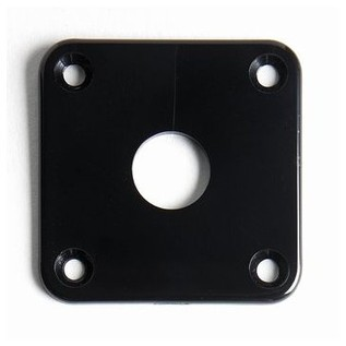Allparts Jackplate for Singlecut Guitars, Black
