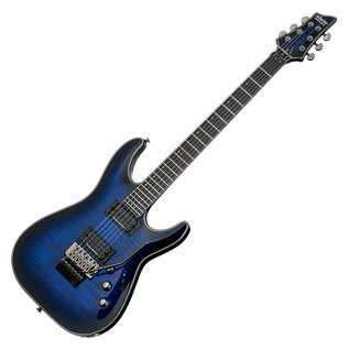 Schecter Blackjack SLS C-1 FR P Electric Guitar, See-Thru Blue Burst