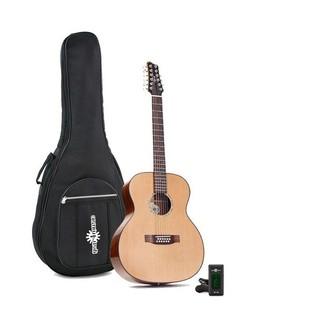 Ozark 12 String Acoustic Folk Guitar, Natural