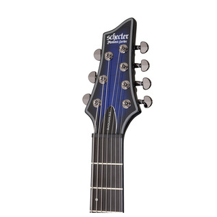 Schecter Blackjack SLS C-7 A Electric Guitar, See-Thru Blue Burst