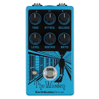 EarthQuaker Devices The Warden Optical Compressor Top Panel