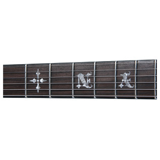 Synyster Standard Electric Guitar, Black With Silver Stripes