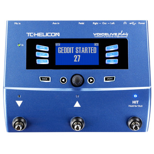 TC Helicon VoiceLive Play Vocal Effects Pedal Front