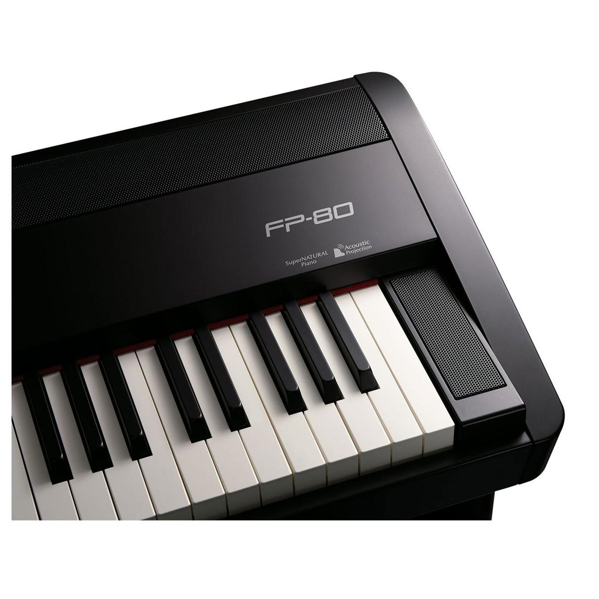 roland fp 80 supernatural digital piano black box opened at. Black Bedroom Furniture Sets. Home Design Ideas
