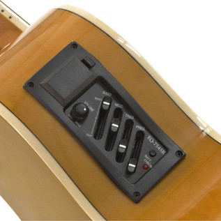 Single Cutaway Electro Acoustic Guitar, by Gear4music