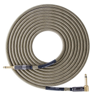 Lava Cable ELC Vintage Tweed Angled Instrument Cable 15ft Image