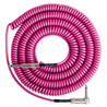 Lava kabel Retro Coil Vinklet Instrument Kabel 6 m, Hot Pink