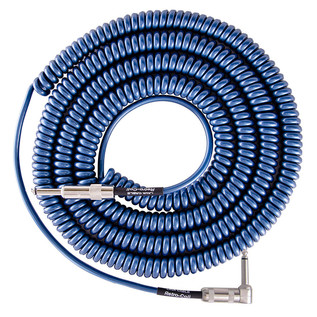 Lava Cable Retro Coil Angled Instrument Cable 20ft, Metallic Blue Image