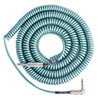 Lava Cable Retro spiraal gedraaid Instrument kabel 20ft, Metallic groen