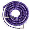 Lava Cable Retro Coil Angled Instrument Cable 20ft, Metallic Purple