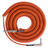 Lava Cable Retro Coil Angled Instrument Cable 20ft, Orange