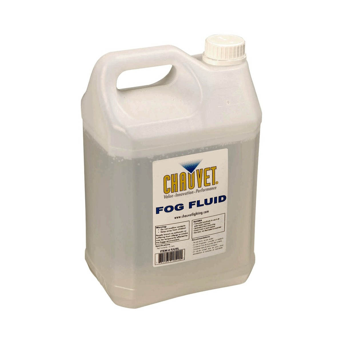 Image of Chauvet High Performance Fog Fluid - 5 liters