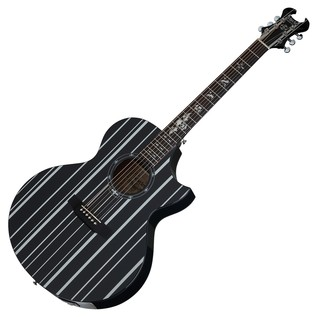 Schecter Synyster AC GA SC Electro Acoustic Guitar, Black and Silver