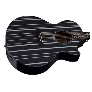 Schecter Synyster Electro Acoustic Guitar, Black and Silver