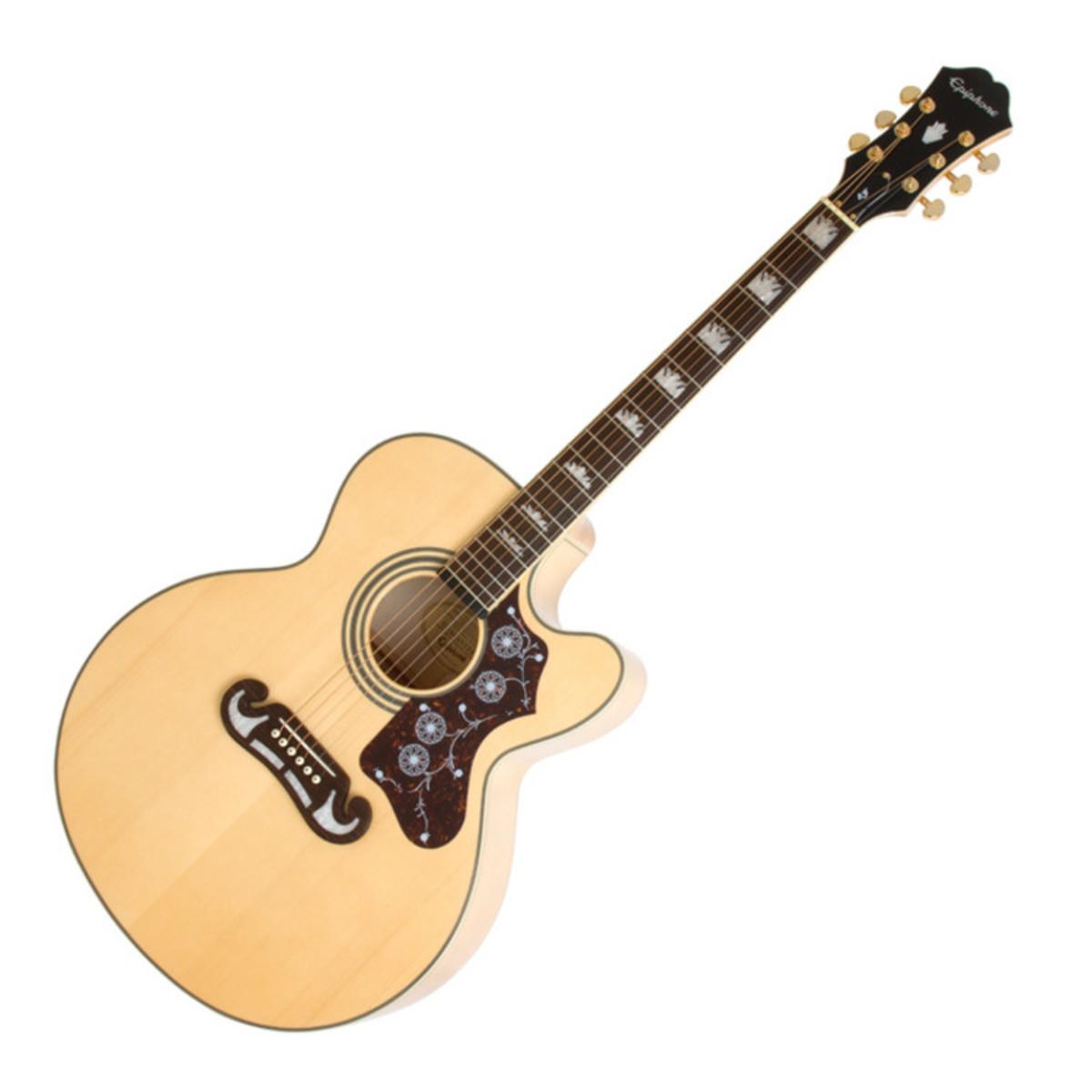 epiphone guitare lectro acoustique ej 200ce natural. Black Bedroom Furniture Sets. Home Design Ideas