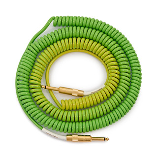 Lava Cable Morph Coil Instrument Cable 25ft, Green to Blue