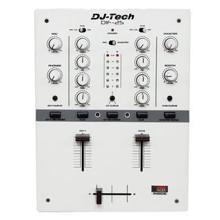 DJ Tech DIF-2S 2-Channel DJ Scratch Mixer, White