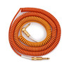 Lava Cable Morph Coil Angled Instrument Cable 25ft, Orange to Yellow