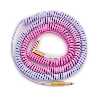 Lava Cable Morph Coil Angled Instrument Cable 25ft, Purple to Blue