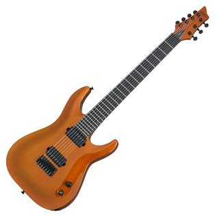 Schecter Keith Merrow KM-7 Electric Guitar, Lambo Orange