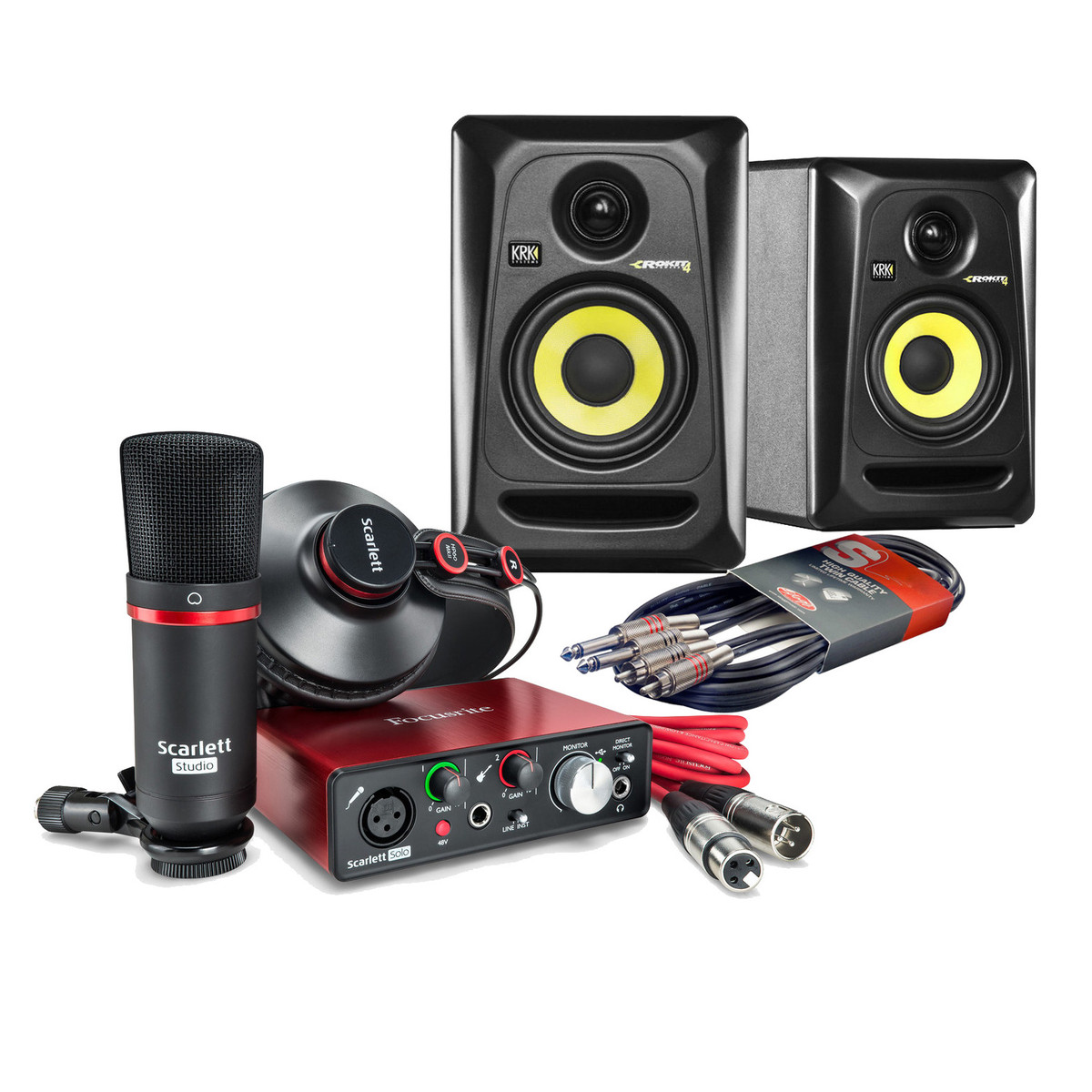 focusrite scarlett solo home studio bundle 2nd gen at. Black Bedroom Furniture Sets. Home Design Ideas