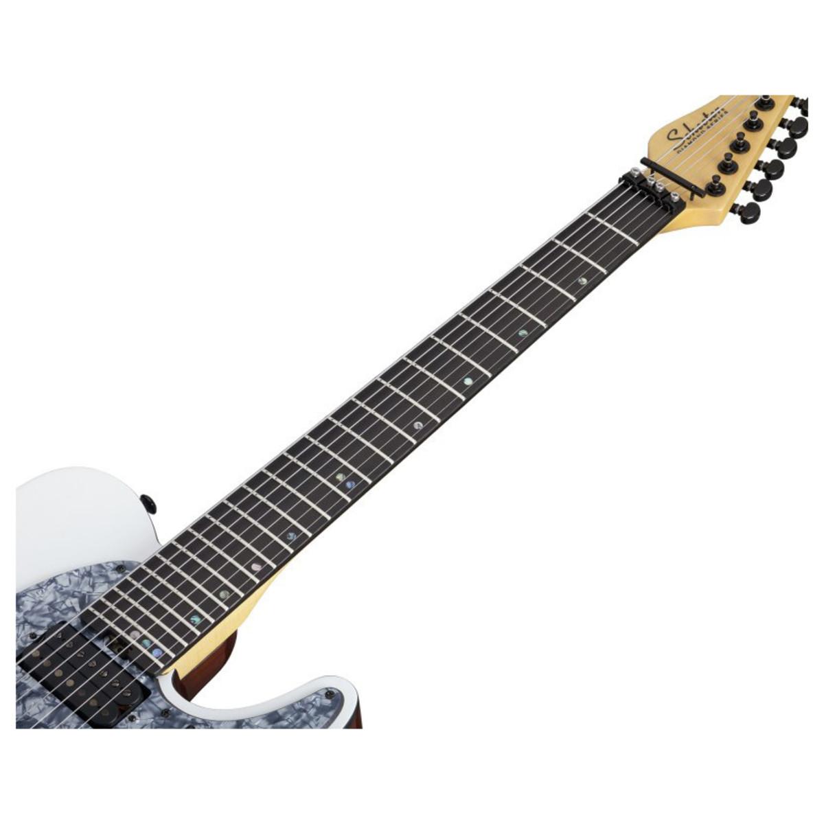 disc schecter wes hauch pt 7 fr electric guitar satin white at. Black Bedroom Furniture Sets. Home Design Ideas