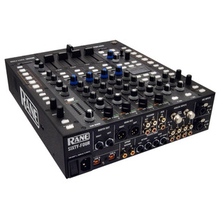Rane Sixty-Four 4 Channel DJ Mixer - Angled Rear