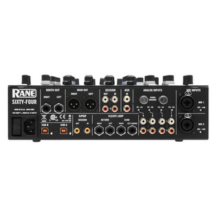Rane Sixty-Four 4 Channel DJ Mixer - Rear