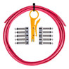 Lava Cable TightRope Löten frei Pedal Board Kit, rot