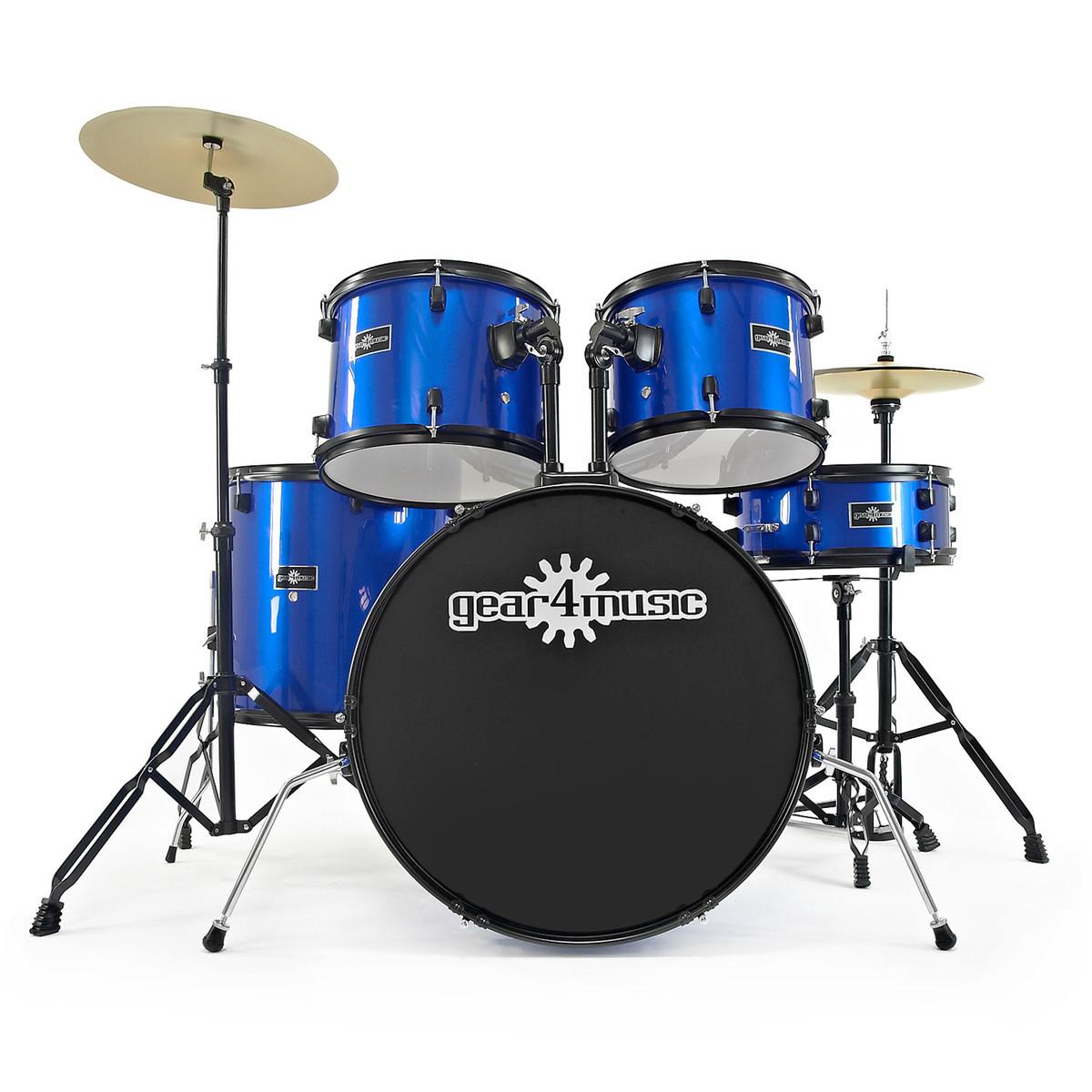 bdk 1 full size starter drum kit by gear4music blue b stock at. Black Bedroom Furniture Sets. Home Design Ideas