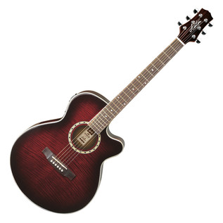 Ashton SL29CEQ Electro-Acoustic Guitar, Wine Red Sunburst