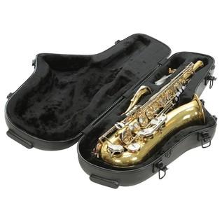 SKB Contoured Pro Tenor Sax Case - Angled Open