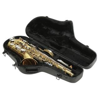 SKB Contoured Pro Tenor Sax Case - Angled Open 2