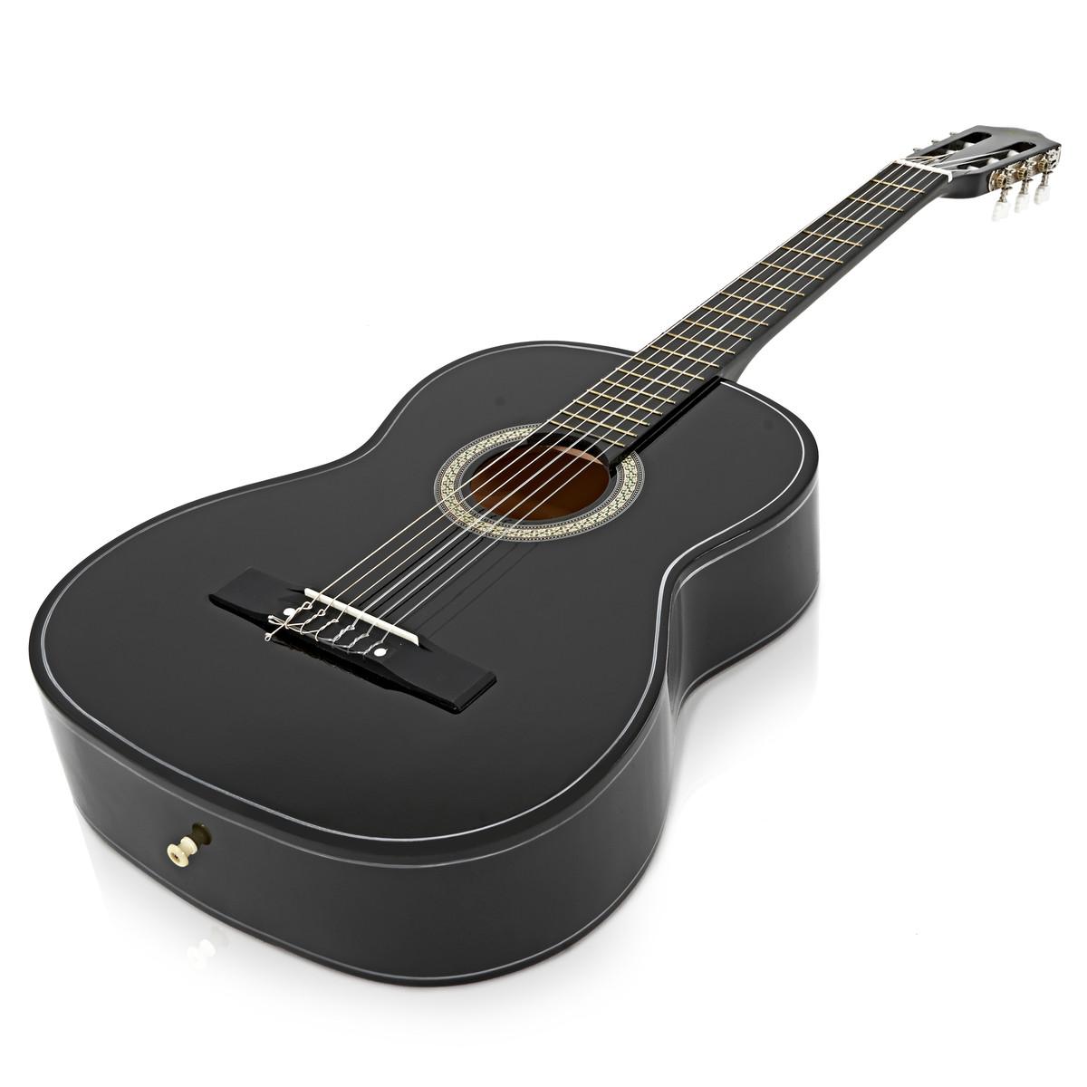 guitare classique noir par gear4music b stock. Black Bedroom Furniture Sets. Home Design Ideas