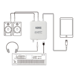 Korg plugKEY MIDI Audio Interface for iOS Devices, Configuration Example