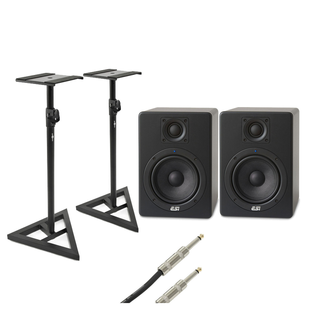 Image of ESI aktiv 05 Active Studio Monitors with Free Stands